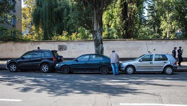 В Днепре в ДТП попали сразу пять автомобилей