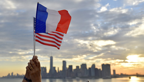 Флаг США - Франция