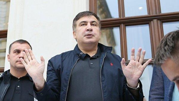 Михаил Саакашвили во Львове