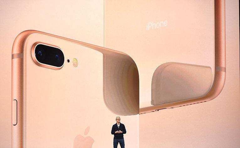 Тим Кук на презентации iPhone X