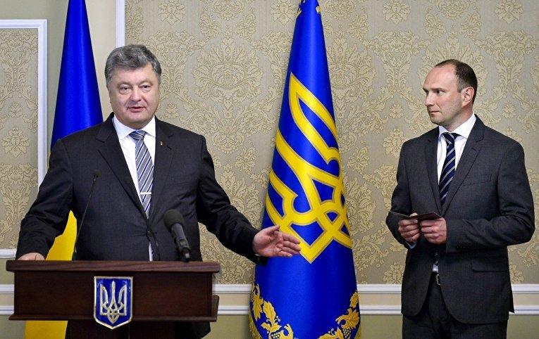 Петр Порошенко и Егор Божок