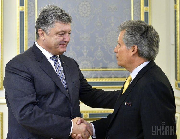 Петр Порошенко и Дэвид Липтон