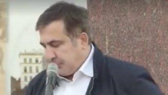 Саакашвили из Львова приехал в Черновцы. Видео