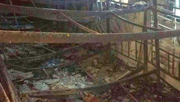 Последствия пожара в школе в Куала-Лумпур