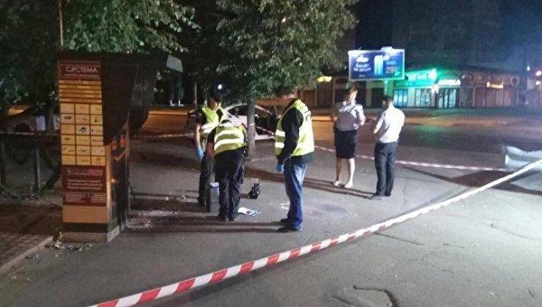 На месте взрыва гранаты в Одессе, 14 сентября 2017