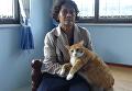 Кота спасли из желудка гигантского питона
