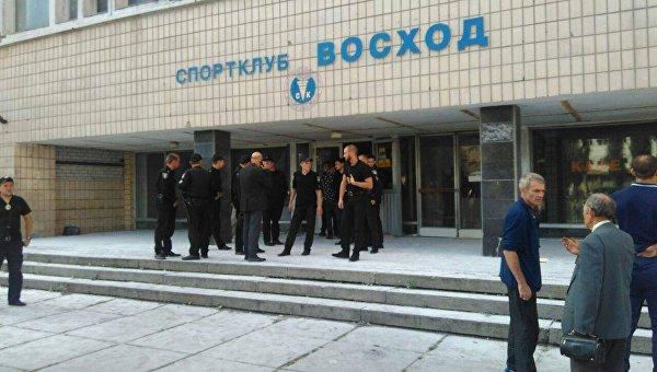 Захват спортклуба в Киеве