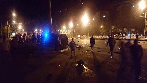 ДТП в Харькове с участием Mercedes Benz, в котором погибли три иностранца