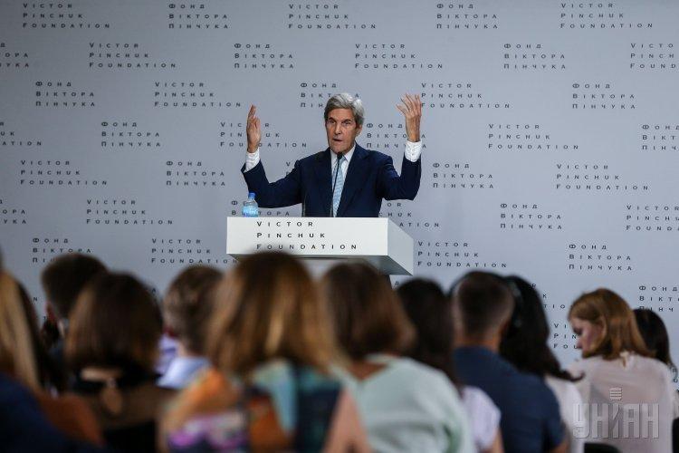 Публичная лекция экс-госсекретаря США Джона Керри в Киеве на форуме YES.