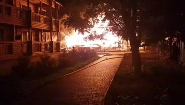 Пожар в детском лагере Виктория в Одессе