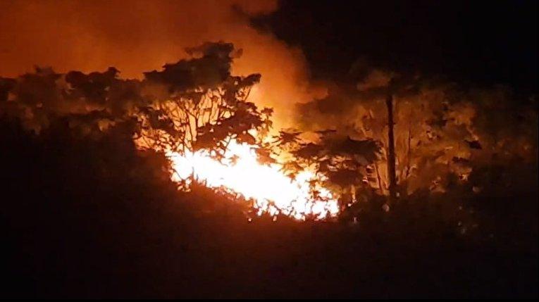 Масштабный пожар в детском лагере в Одессе