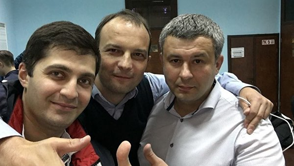 Давид Сакварелидзе, Егор Соболев и Павел Костенко (слева направо)