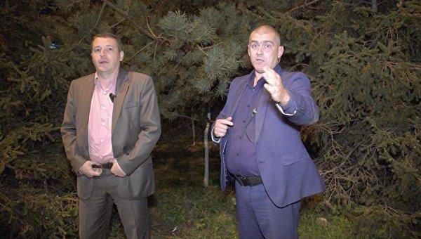 Сотрудники УГО, которые, по заявлениям журналистов, напали на них в Конча-Заспе