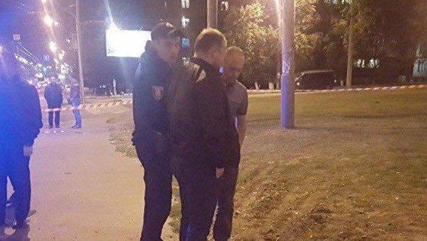 В Киеве посреди дороги прогремел взрыв