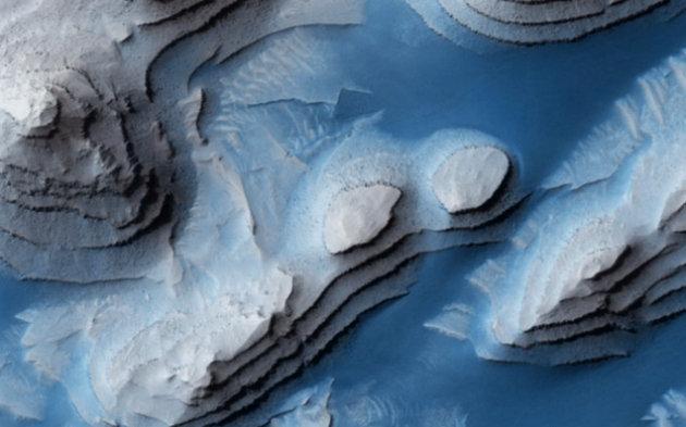 Фото Марса, сделанное зондом Mars Reconnaissance Orbiter