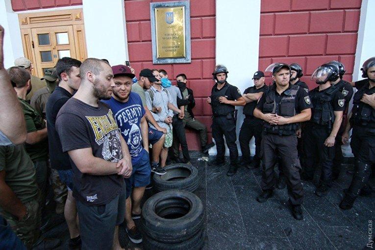 Штурм мэрии в Одессе