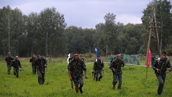 Военнослужащие вооруженных сил Казахстана