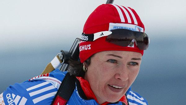 Член женской сборной России по биатлону Ольга Медведцева