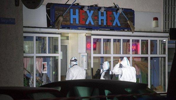 На месте стрельбы в ресторане в Баварии
