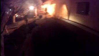 Видео тушения пожара в детском лагере в Одессе