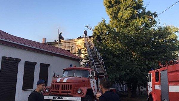 ВХерсоне впожаре погибли женщина идвое детей