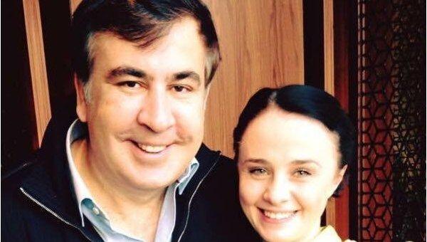 Михаил Саакашвили с Дариной Чиж