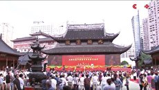 В Китае передвинули буддистский храм на 30 метров