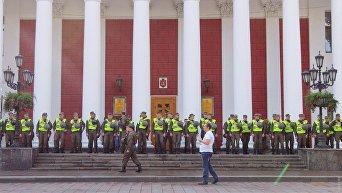 Одесская мэрия готовится к сессии и пикету