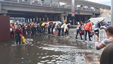 В Киеве затопило улицу