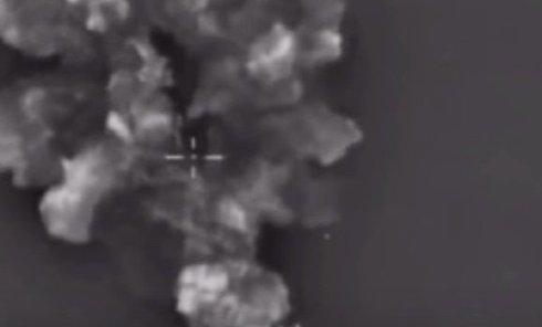 Удар российской авиации по боевикам в Сирии. Видео