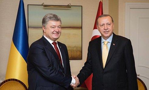 Петр Порошенко и Реджеп Тайип Эрдоган
