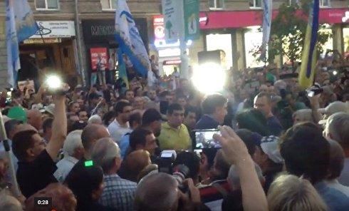Саакашвили в Днепре