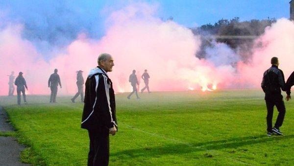 Массовая драка на футболе в Ивано-Франковске