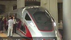 В Китае запустили самый быстрый поезд в мире