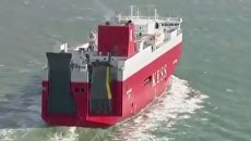 Активисты Greenpeace штурмуют судно с автомобилями в Британии
