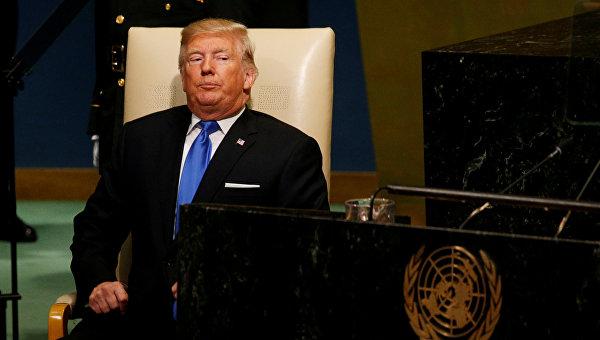 Президент США Дональд Трамп на Геассамблее ООН.