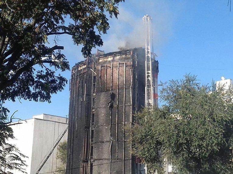 Масштабный пожар в Ростове