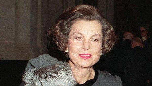 Самая богатая женщина мира и наследница французской косметической компании L'Oreal Лилиан Беттанкур