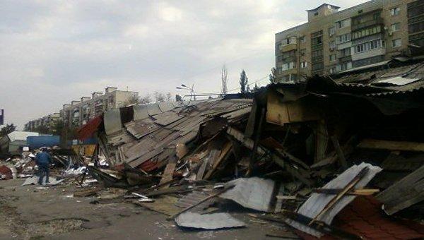 В Киеве произошел погром возле одного из крупнейших рынков