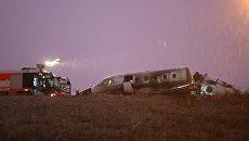 В аэропорту Стамбула упал частный самолет