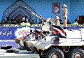 Президент Ирана Хасан Рухани выступает на параде вооруженных сил в Тегеране, Иран.