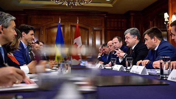 Переговоры между делегацией Украины и Канады
