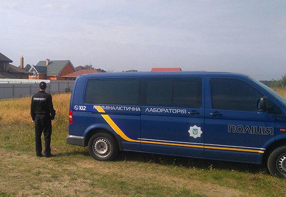 На месте нападения на дом главы Киевоблэнерго Ивана Полывяного, 25 сентября 2017