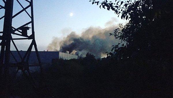 Пожар на заводе Биофарма в Белой Церкви