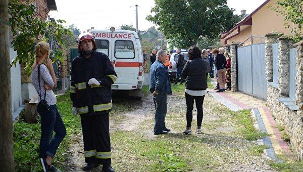 На месте гибели полицейского в Тернопольской области, 26 сентября 2017