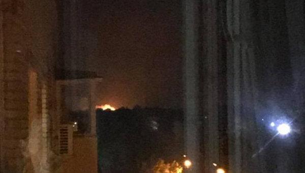 Взрывы и пожар на складе боеприпасов в Калиновке Винницкой области