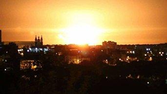 Взрывы на складе боеприпасов в Калиновке. Виде из Винницы