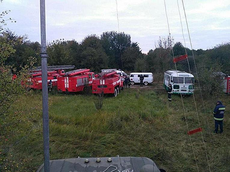 Работа оперативного штаба МЧС по вопросам ликвидации ЧП в Калиновке