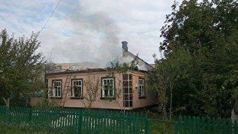 Поврежденный дом в с.Калиновке