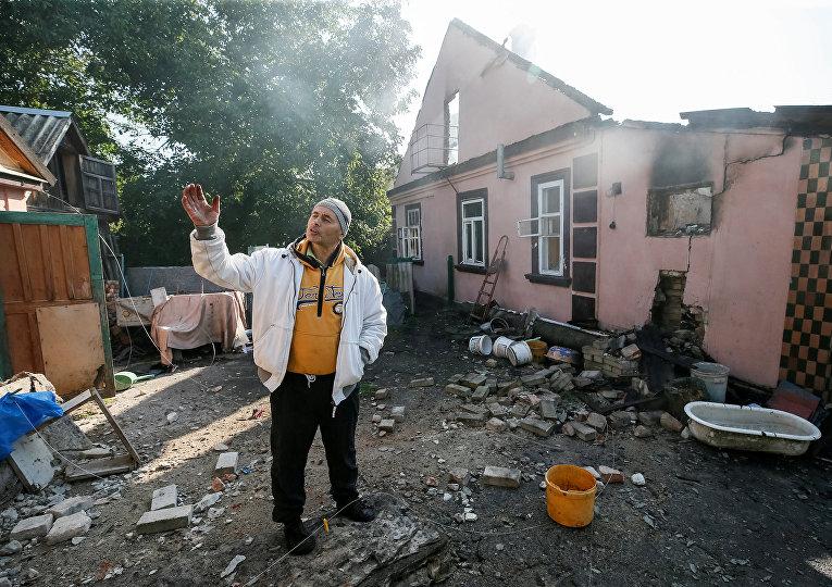 Последствия взрывов на арсенале в Калиновке